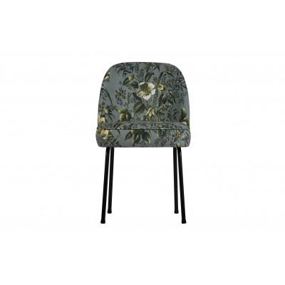 Valgomojo kėdė Vogue, velvetas (pilka su aguonų raštu), 2 vnt.