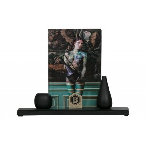 Medinis nuotraukų rėmelis Beloved Too, 17x21 cm, vidutinio dydžio (juoda), 2 vnt.