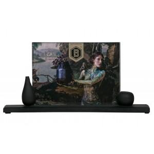 Medinis nuotraukų rėmelis Beloved Too, 15x29 cm, labai didelis (juoda), 2 vnt.