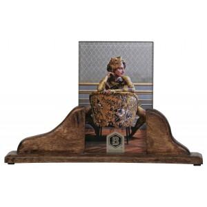 Medinis nuotraukos rėmelis Beloved, 16x26 cm, vidutinio dydžio (tamsiai ruda), 2 vnt.