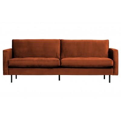 Klasikinė sofa Rodeo, 2.5 vietų, velvetas (rūdžių spalvos)