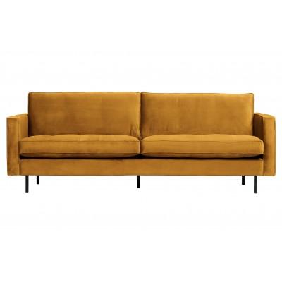 Klasikinė sofa Rodeo, 2.5 vietų, velvetas (ochros)