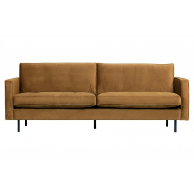 Klasikinė sofa Rodeo, 2.5 vietų, velvetas (medaus geltona)