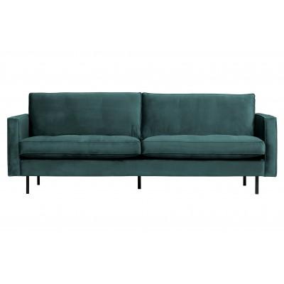 Klasikinė 2.5 vietų sofa Rodeo, velvetas (žalsvai mėlyna)