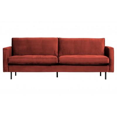 Klasikinė 2.5 vietų sofa Rodeo, velvetas (kaštoninė)