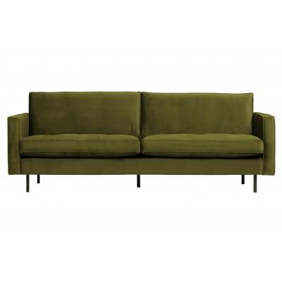 Klasikinė 2.5 vietų sofa Rodeo, velvetas (alyvuogių žalia)