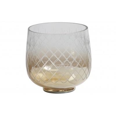 Stiklinė vaza Heirloom M su rudu atspalviu