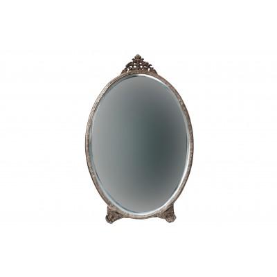 Ovalus veidrodis Posh, metalas (sendinto žalvario)