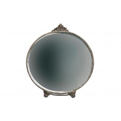 Apvalus veidrodis Posh, metalas (sendinto žalvario)