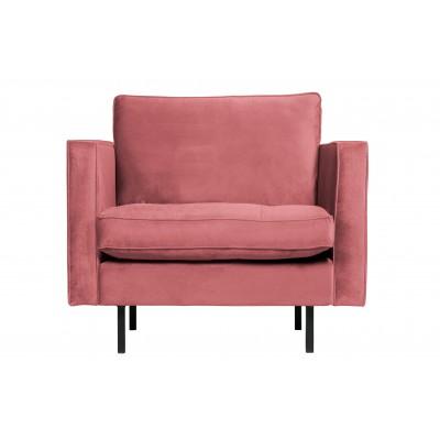 Klasikinis fotelis Rodeo, velvetas (rožinė)