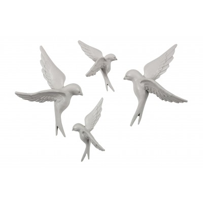 4 paukščiukai Avaler, kaučiukas (pilkšva)