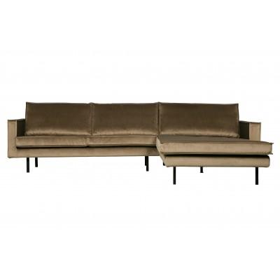 Kampinė sofa Rodeo, dešininė, velvetas (šilta rusvai pilka)