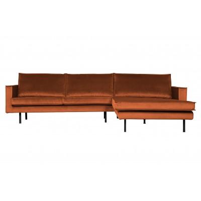 Kampinė sofa Rodeo, dešininė, velvetas (rūdžių)