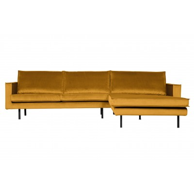 Kampinė sofa Rodeo, dešininė, velvetas (ochros)