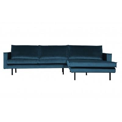 Kampinė sofa Rodeo, dešininė, velvetas (mėlyna)