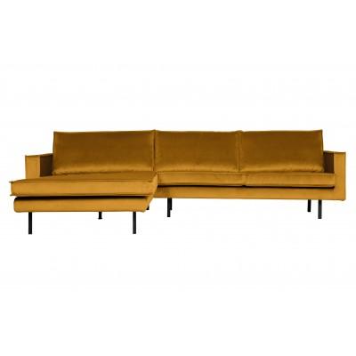 Kampinė sofa Rodeo, kairinė, velvetas (ochros)