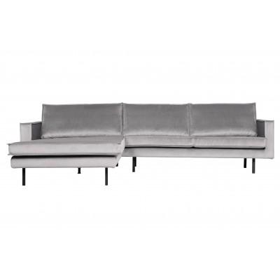 Kampinė sofa Rodeo, kairinė, velvetas (šviesiai pilka)