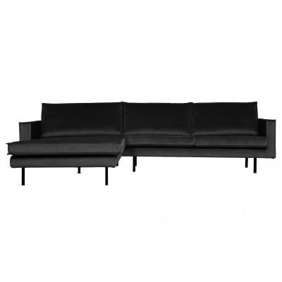 Kampinė sofa Rodeo, kairinė, velvetas (antracito)