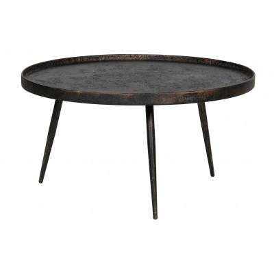Šoninis staliukas Bounds XL, 40x76 cm skersm., medis / metalas (sendinto aukso)