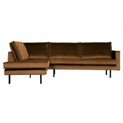 Kampinė sofa Rodeo, kairinė, velvetas (medaus geltona)