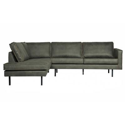 Kampinė sofa Rodeo, kairinė (rusvai žalsva)