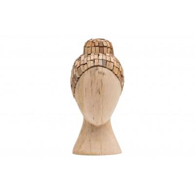 Natūralios spalvos medinė galva Witness