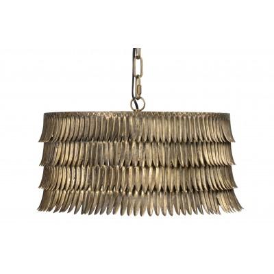Apvalus pakabinamas šviestuvas Hawaii, metalas (sendinto žalvario spalvos)
