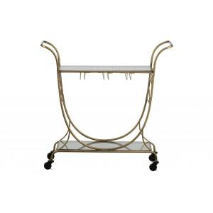 Metalinis vežimėlis Decadent (sendinto žalvario)
