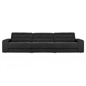 Trivietė sofa Date, kordinis velvetas (natūrali)