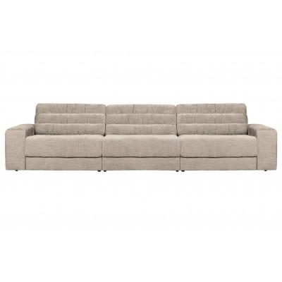 Trivietė sofa Vintage (pilkšvai ruda)