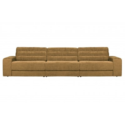 Trivietė sofa Vintage (aukso)