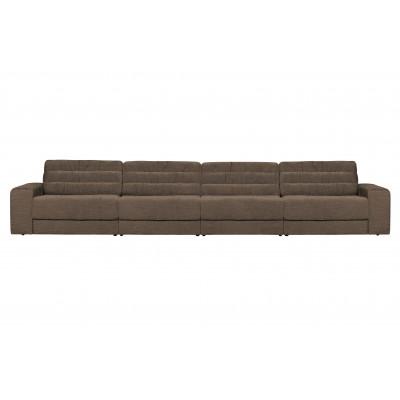 Keturvietė sofa Vintage (šiltai pilka)