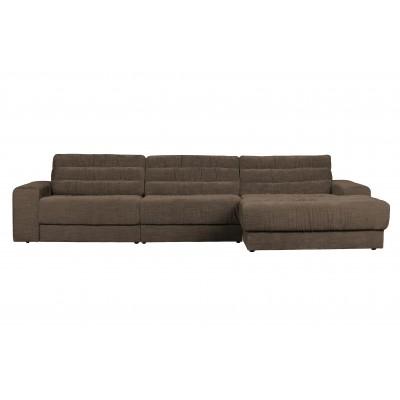 Kampinė sofa Date Vintage, dešininė (šiltai pilka)