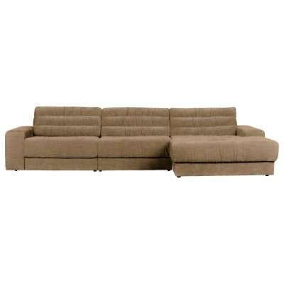 Kampinė sofa Date Vintage, dešininė (smėlio)