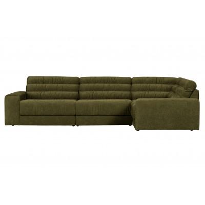 Kampinė sofa Date Vintage, dešininė (žalia)
