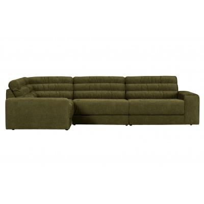 Kampinė sofa Date Vintage, kairinė (žalia)