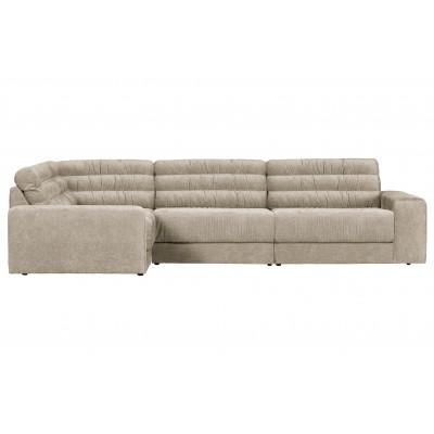 Kampinė sofa Date Vintage, kairinė (pilkšvai ruda)