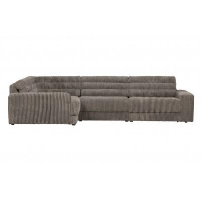 Kampinė sofa Date, kairinė, kordinis velvetas (akmens)