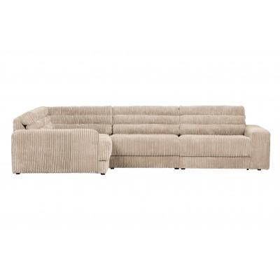 Kampinė sofa Date, kairinė, kordinis velvetas (natūrali)