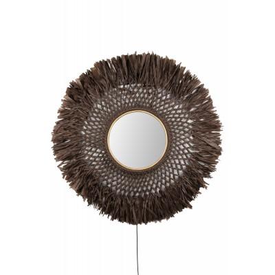Sieninis šviestuvas Boho Mirror (rudas)