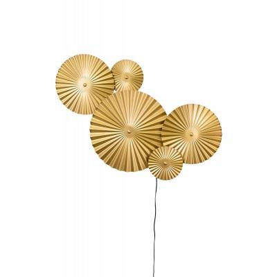 Sieninis šviestuvas Omega (aukso spalvos)