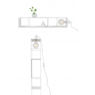 Sieninis / pastatomas šviestuvas Shelfie Long (baltas)