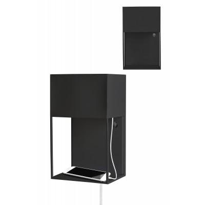 Sieninis šviestuvas Box (juodas)