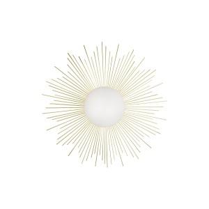 Sieninis / plafoninis šviestuvas Soleil (šveisto žalvario spalvos)