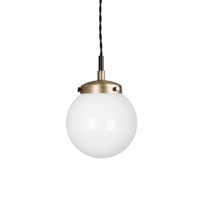 Pakabinamas šviestuvas Allen Mini (sendinto žalvario spalvos / baltas)