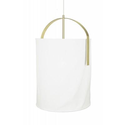 Pakabinamas šviestuvas Nest (baltas / šveisto žalvario spalvos)
