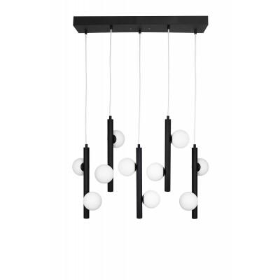 Pakabinamas šviestuvas Pearl 5 (juoda)