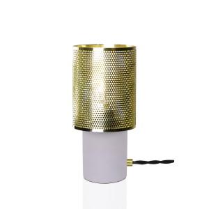 Stalinis šviestuvas Rumble (betono / žalvario spalvos)