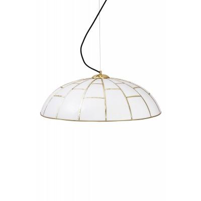 Pakabinamas šviestuvas Ombrello (žalvario spalvos / baltas)