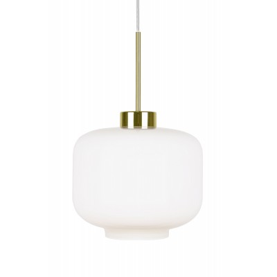 Pakabinamas šviestuvas Ritz (baltas / žalvario spalvos)